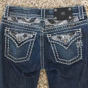 BUCKLE Miss Me Bling Blue Jeans 25 JE5124ER 25x31